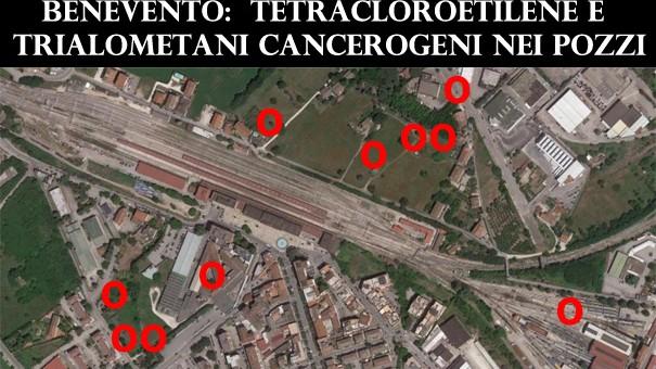 """Composti canceroni in aggiunta al tetracloroetilene a Benevento. GESESA riconosce il """"rischio sanitario"""" ma i pozzi non chiudono."""
