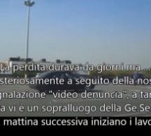 I lavori per la perdita d'acqua nel parcheggio Carrefour segnalata da Altrabenevento